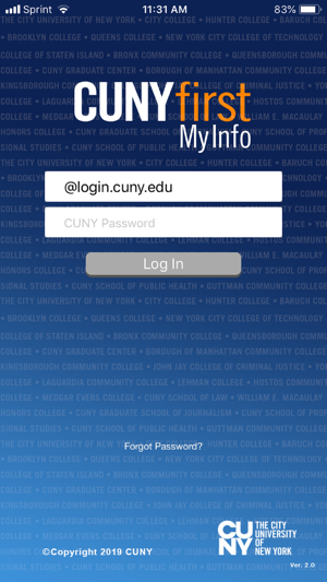 CUNYfirst MyInfo on the App Store