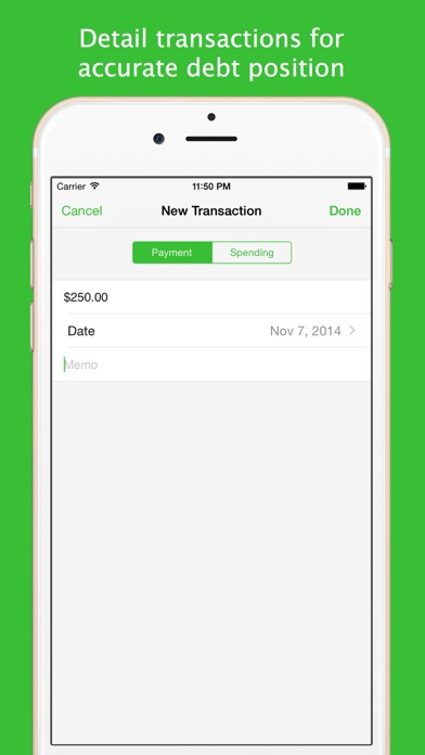 Screenshot for Debts in United States App Store