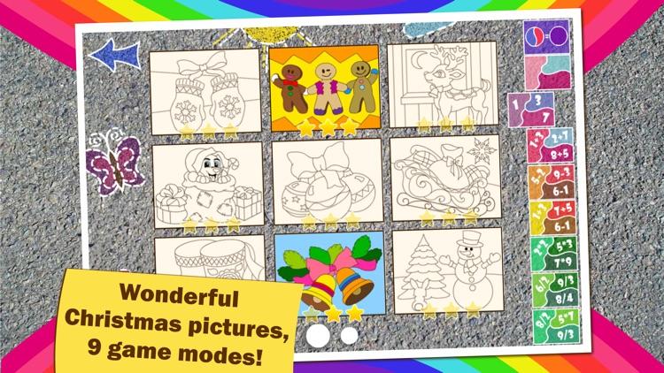 Math Coloring for kids Winter screenshot-3