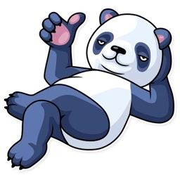 Fluffy Lazy Panda Stickers