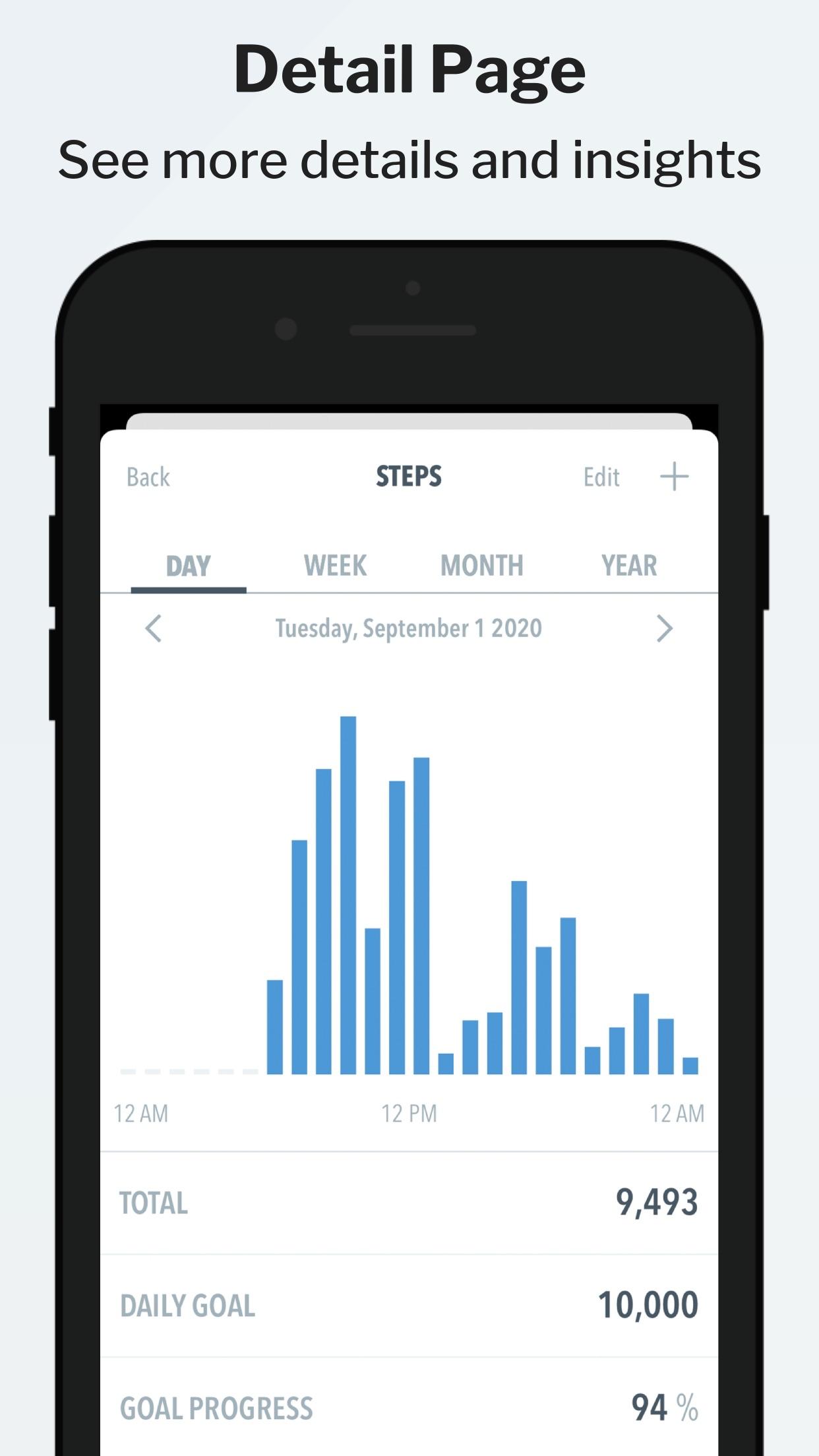Screenshot do app HealthView Widget