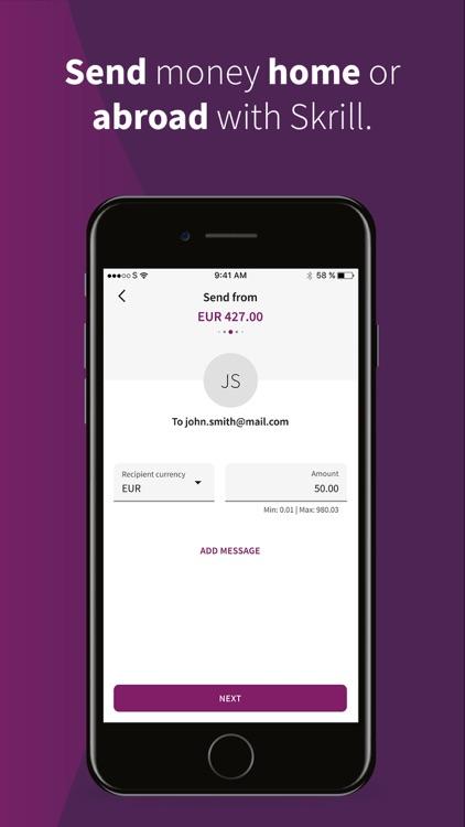 Skrill - Pay & Transfer Money screenshot-3