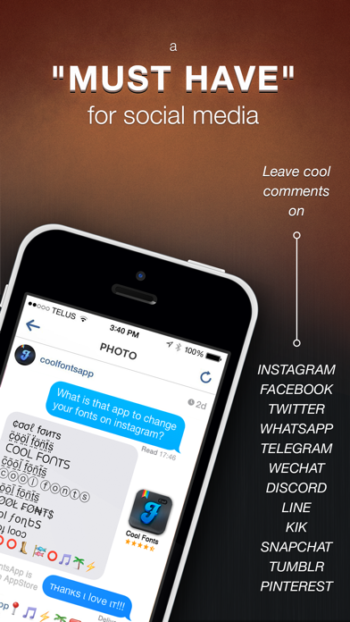 Cool Fonts Pro - Change the Font on Whatsapp Text Messages, Facebook chat, Twitter and Instagram Screenshot 4