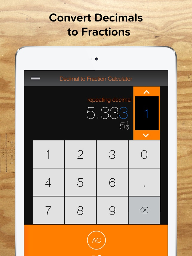 Fraction Calculator Decimals On The App Store