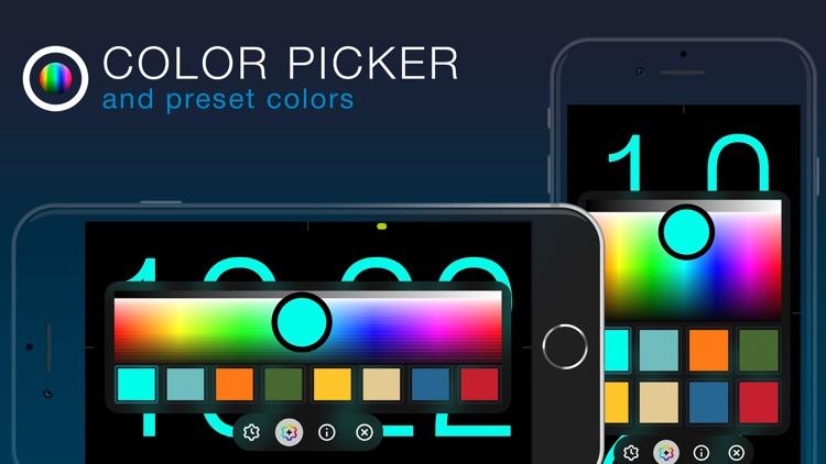 ClockPhone - big digital clock screenshot-4