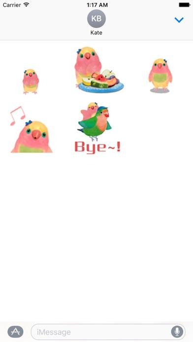 Animated Watercolor Parrot Gif screenshot 2