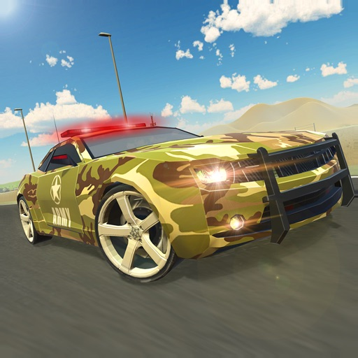 Army Car Driving - Cop Chase