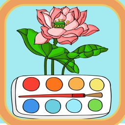 Coloring Flowers VIP