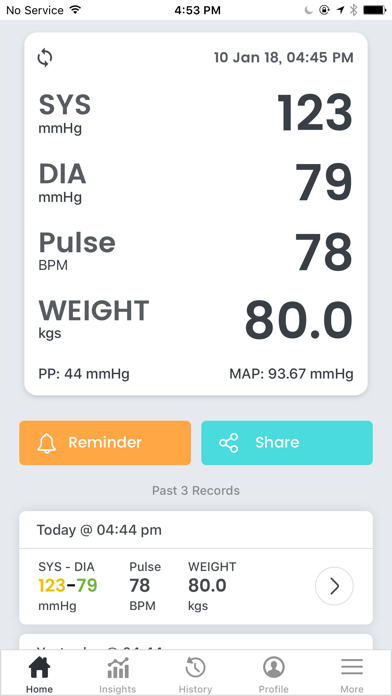 SmartBP - Smart Blood Pressure Screenshot