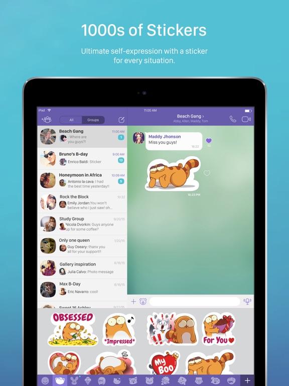 Viber Мессенджер и Видео Чат ipad картинки