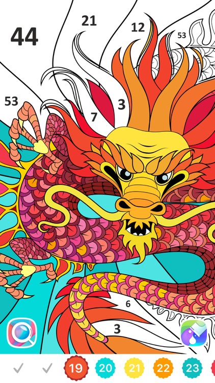 Color by Number, Coloring Book screenshot-3