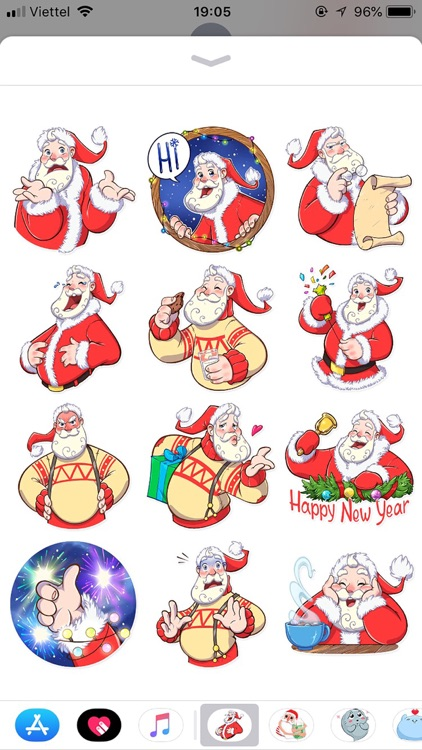 Christmas Santa Funny Stickers