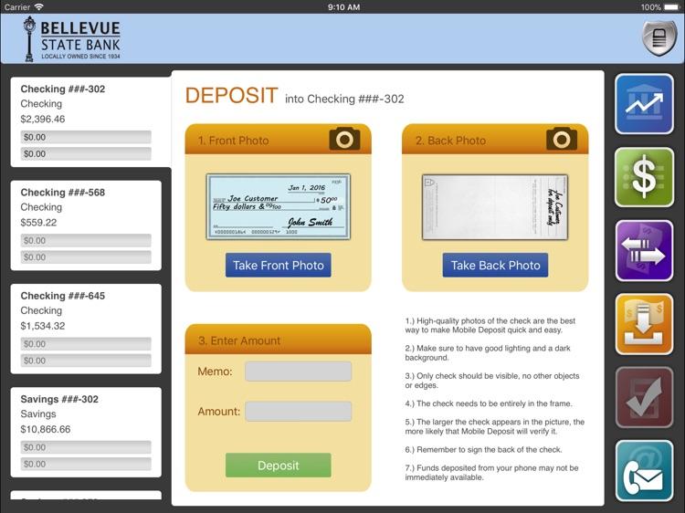 Bellevue State Bank for iPad screenshot-3