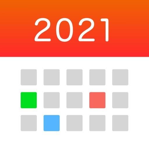 シームレス カレンダー : シンプルで使いやすい縦カレンダー