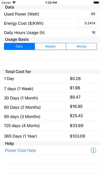 Power Cost screenshot-6