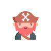 Senga Games, LLC - Kawaii Pirates Stickers.  artwork
