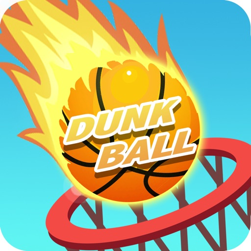 Dunk Ball on fire - Basketball