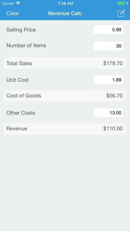 Revenue Calc