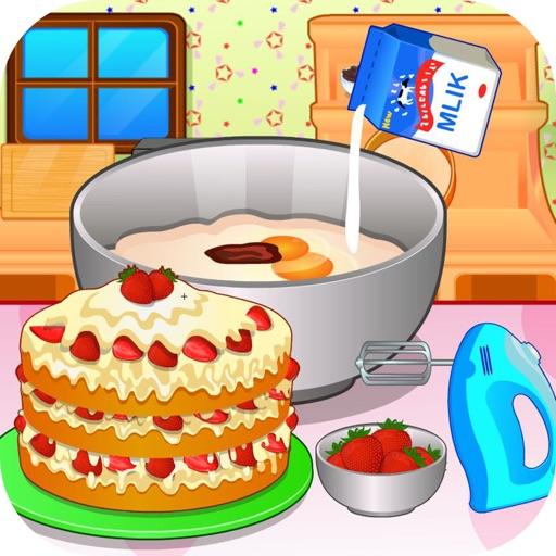 Игра Готовим клубничный торт