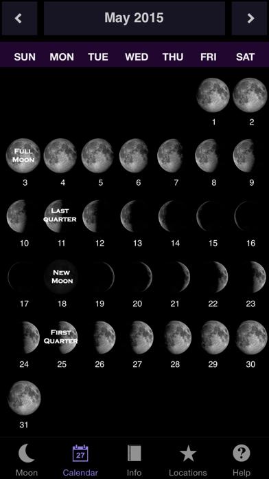 Moon Calendar review screenshots