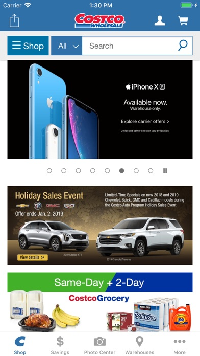 Screenshot for Costco in United States App Store