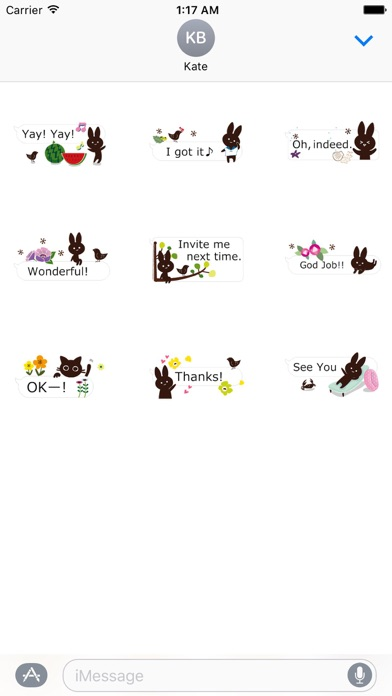 Rabbit And Cat Animated Chat screenshot 2