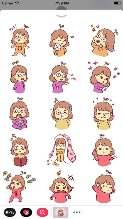 Seedling Jenny Stickers