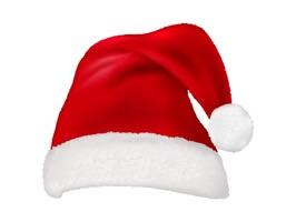 Santa Hat and Beard Stickers