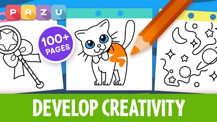 Coloring games for kids 2-6