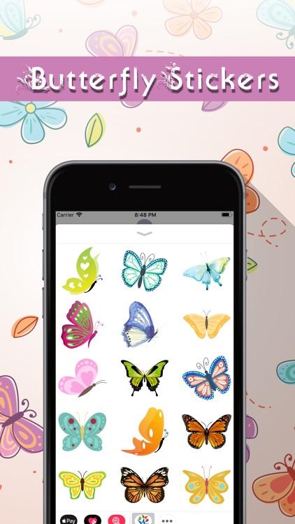 Butterfly Stickers Pack screenshot-3