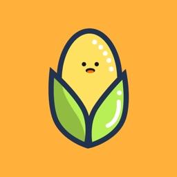 快乐的玉米-Happy Corn Emoji