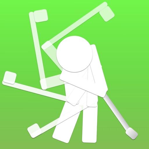 ゴルフスイング軌跡/弾道表示 - 残像ゴルフスイング