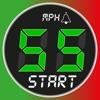 スピードメーター 55 Start。GPS 速度計+HUD