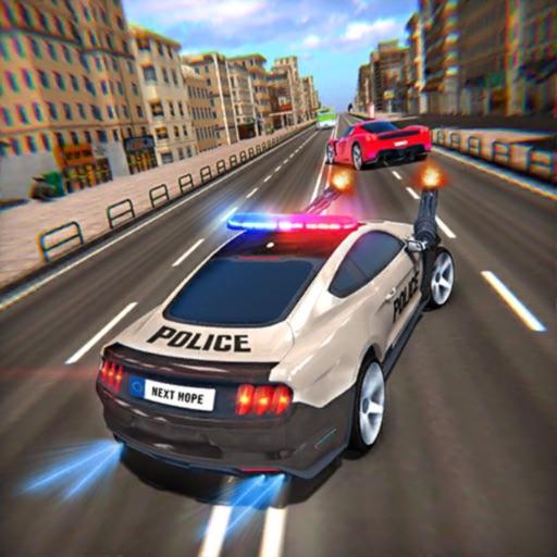 Полицейское шоссе бежит за