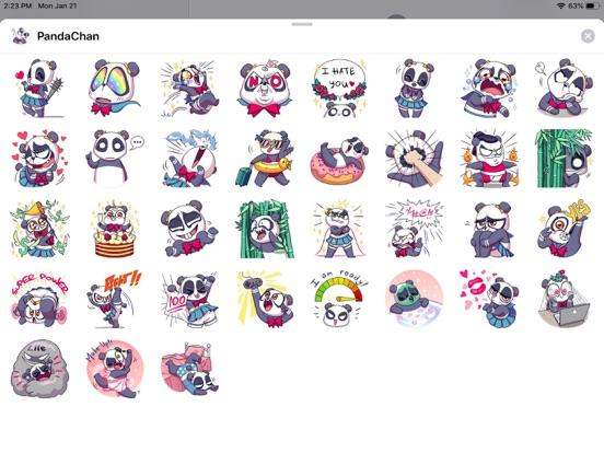 Cute Panda Pun Funny Stickers screenshot 4