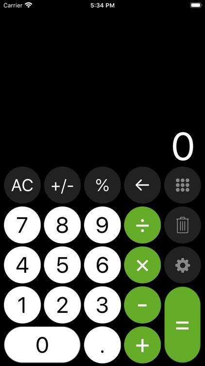 Calculator - with history tape screenshot-8