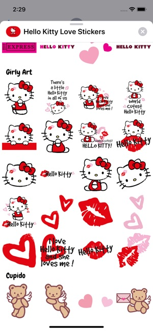 Hello Kitty Love Stickers On The App Store