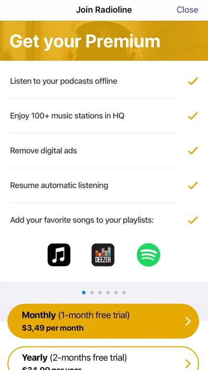 Radioline live radio & podcast screenshot-3