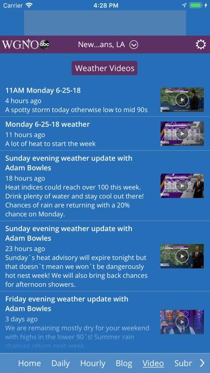WGNO ABC26 Weather screenshot-3