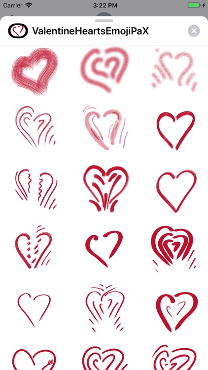 Valentine Hearts Emoji PaX screenshot-2