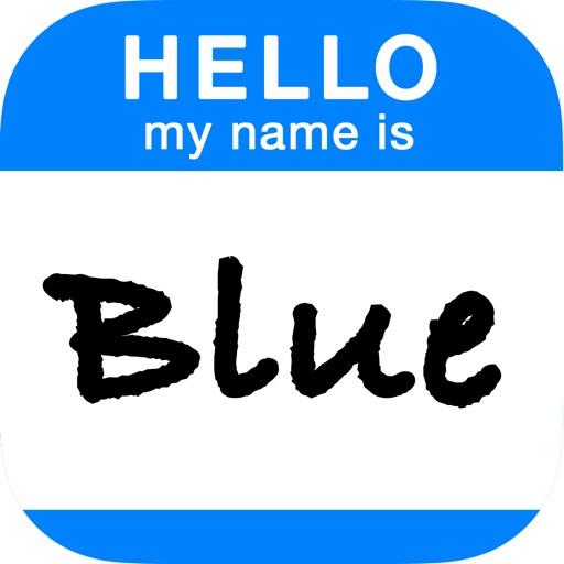 Blue - Virtual Name Tag