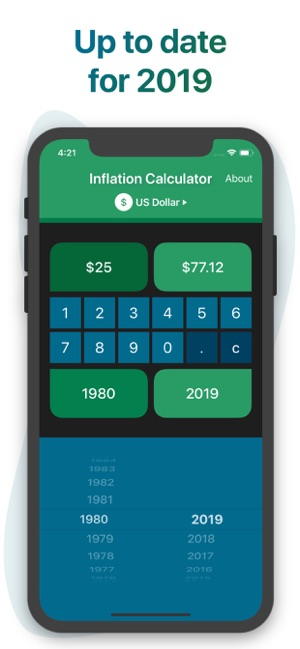 Inflation Calculator Screenshot