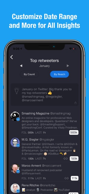 Dashbird for Twitter Screenshot
