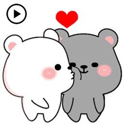 Animated Lovely Couple Bear