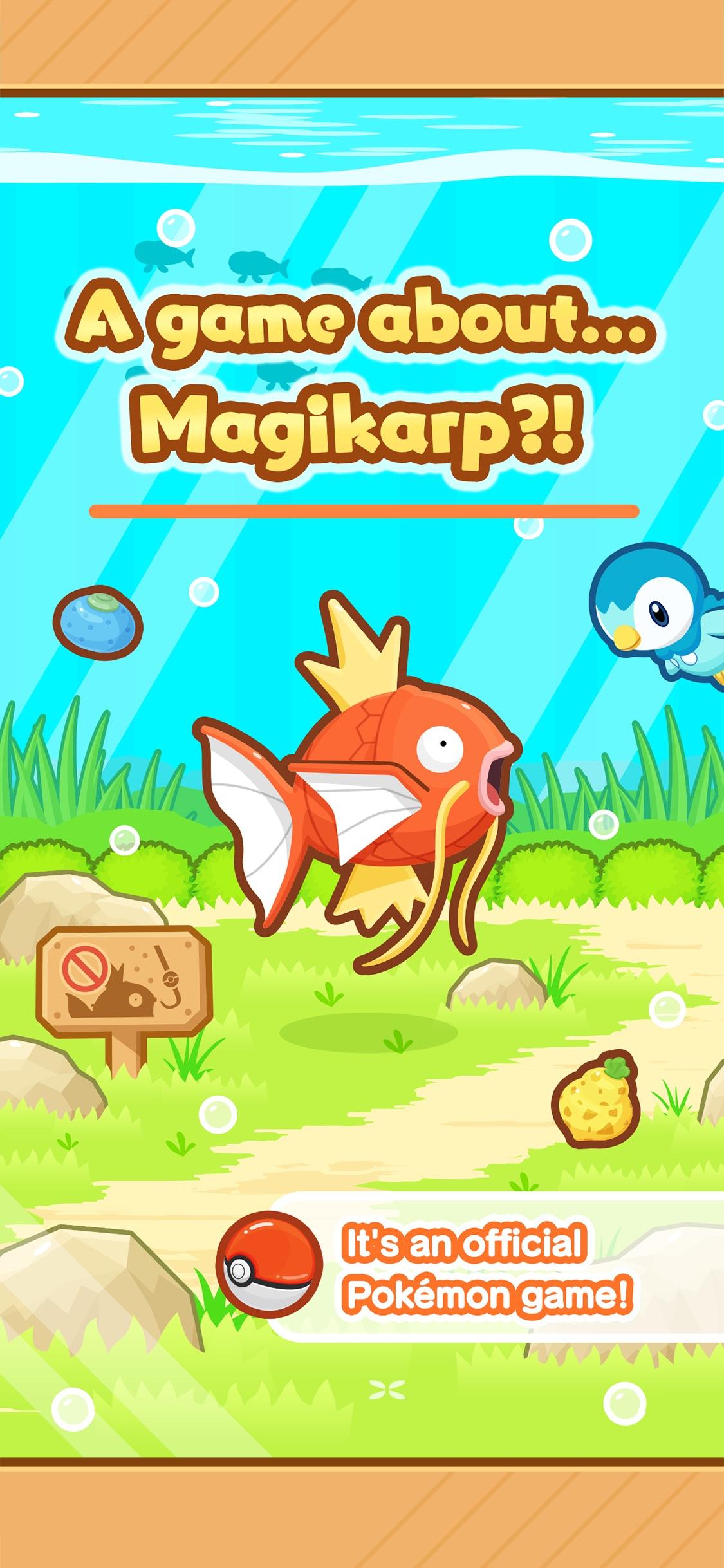 Screenshot do app Pokémon: Magikarp Jump