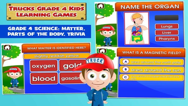Kids Trucks Fourth Grade Games screenshot-3