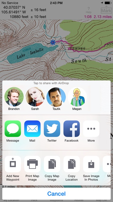 Screenshot for i Hike GPS : Topo Maps in United States App Store