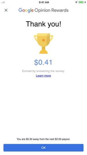 Google Opinion Rewards on the App Store