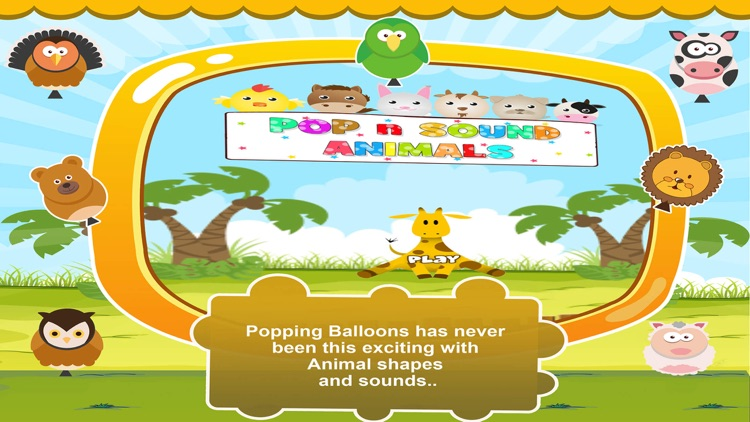 Balloons Animal Sounds Popping by Learning Apps