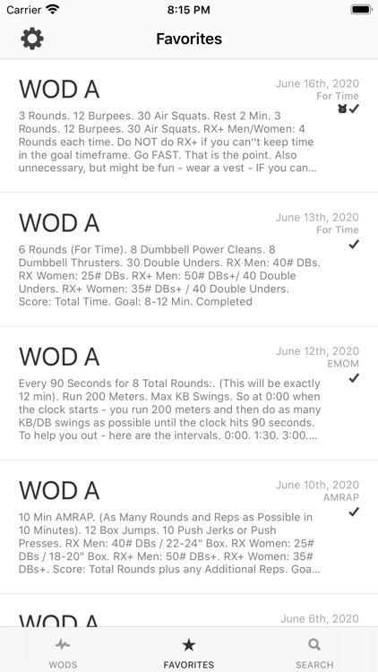 WOD Workout Timer and Log screenshot-6